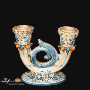 Candeliere, ceramiche artistiche siciliane