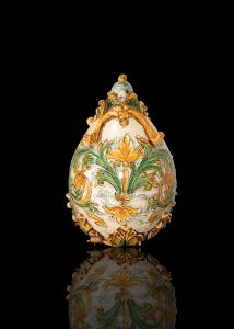 uova ornamentali in ceramica di caltagirone